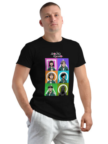 Squid Game Characters (with Logo) Printed Graphic T-Shirt